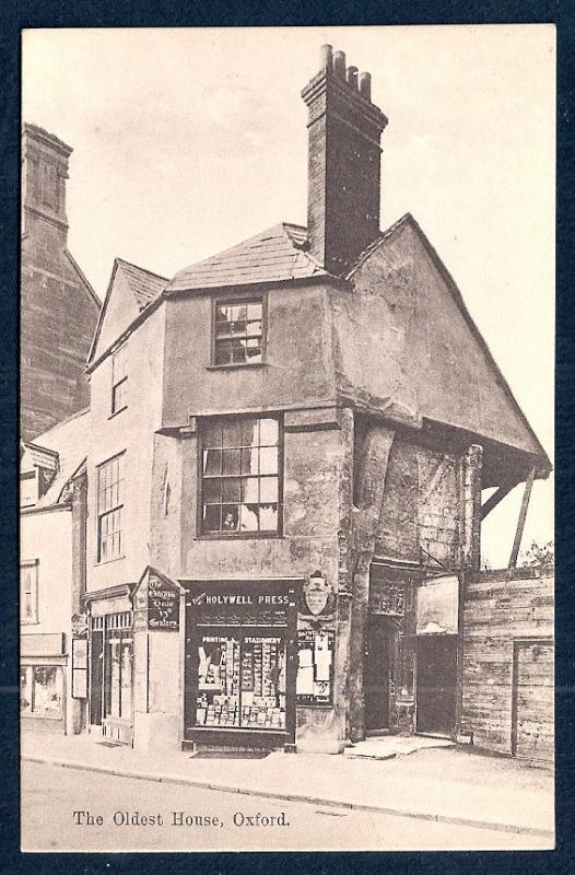 Oldest House in Oxford England unused c1920's