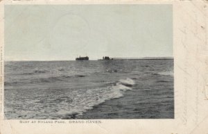 GRAND HAVEN, Michigan, PU-1909; Surf at Hyland Park