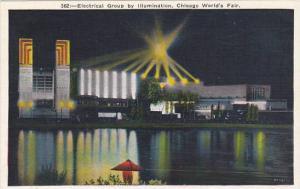 Illinois Chicago 1933 World Fair Electrical Group By Illumination