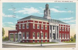 City Hall  , Delaware , Ohio , PU-1940