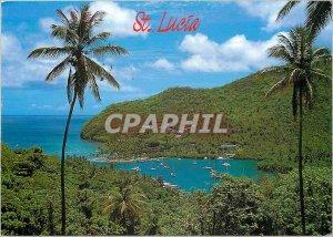 Postcard Moderne Saint Lucia West Indies Marigot Bay