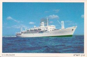 JUDAICA, S.S. Jerusalem, Zim Navigation, Israel Passenger Ship, Bergensfjord