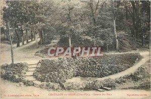 Old Postcard Chatillon sur Seine (cote d) source of the Dukes