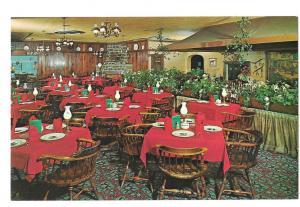 PA Limerick Lakeside Inn Restaurant Interior Route 422 Dining Room Vtg Postcard
