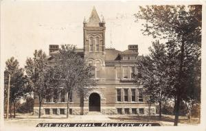Falls City Nebraska~High School Building~Arched Entryway~1908 RPPC Postcard