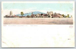 Albuquerque New Mexico~Panorama of Alvarado Hotel~Detroit Publishing #5994~c1905