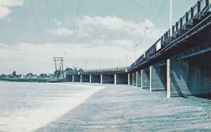The Long Bridge, Spanning The Grand River At Dunnville, Ontario, Canada, 40-60s
