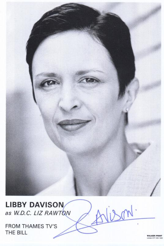 Libby Davison WDC Liz Rawton ITV The Bill Hand Signed Cast Card Photo