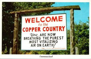 Michigan Keweenawland Wellcome To Copper Coutry Sign