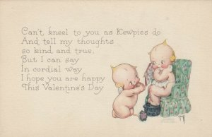 Kewpies ; VALENTINE'S DAY Couple , 1900-10s , AS Rose O'Neill