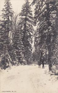 Kids on snow covered road , JACKSON , New Hampshire , 1910s
