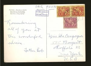 Postmarked 1960 Fatima Portugal Fatima Basilica Arcate Real Photo Postcard