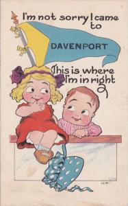 Iowa Davenport I'm Not Sorry I Came 1914 Pennant Series