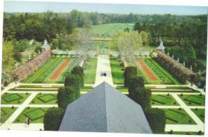 Williamsburg VA Governors Palace Ballroom Garden Postcard