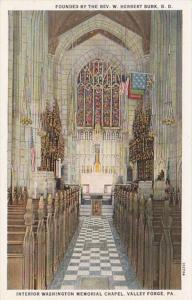Pennsylvania Valley Forge Interior Washington Memorial Chapel Curteich