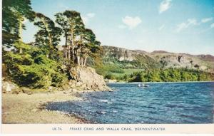 Post Card Cumbria Lake District Derwentwater Friars Crag and Walla Crag