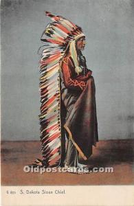 S Dakota Sioux Chief South Dakota, SD, USA Indian Unused