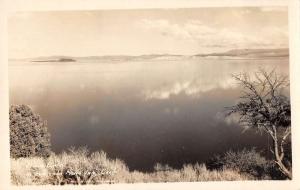 Lee Vining California Mono Lake from Mono Inn Frasher real photo pc Y11011