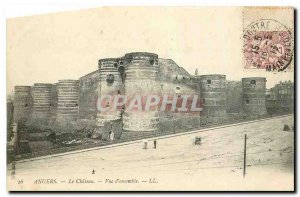 Old Postcard Angers Le Chateau Overview