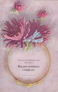 BIRTHDAY ; Chrysanthemum [Flower] & the Topez [Jewel] , 1907