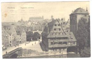 Maxbrucke Mit Burg, Nurnberg (Bavaria), Germany, PU-1908