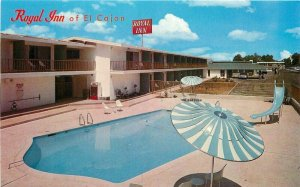 El Cajon San Diego California Swimming Pool 1960s Royal Inn Postcard Road 4601