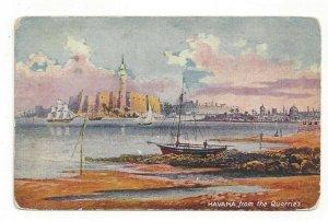 Postcard Cuba Havana from the Quarries Standard View Card Seaport Capital Boats