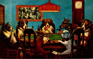 Humour Dogs Playing Poker Only A Friend Needed