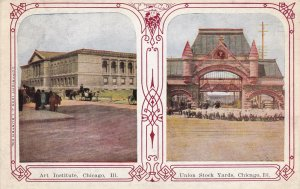 CHICAGO, Illinois, 1900-1910s; Art Institute, Union Stock Yards