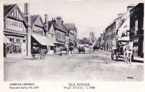 Old Pinner High Street Sussex Transportation RPC Postcard