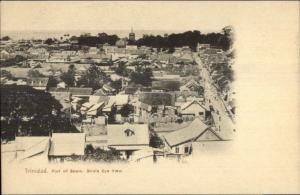 Port of Sapin Trinidad Birdseye View c1905 Postcard