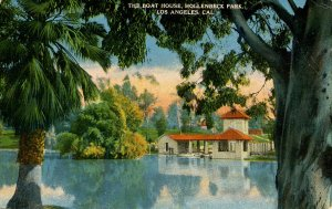 CA - Los Angeles. Hollenbeck Park, The Boat House
