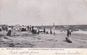 New York Rockaway Beach Surf Bathing At Hammel's 1906