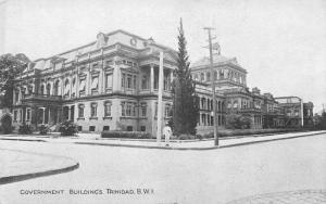 Government Buildings, Trinidad, British West Indies, early postcard, Unused