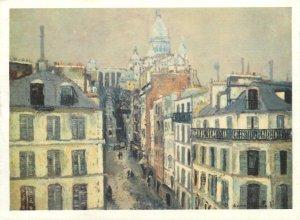 Postcard France Paris Montmartre La Rue Chappe painting M Utrillo