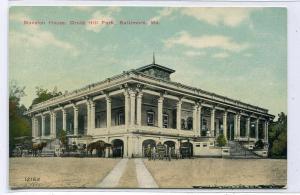Mansion House Druid Hill Park Baltimore Maryland 1910c postcard