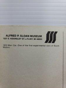 Vintage Postcard 1913 Marr Car Buick Motors Sloan Museum Flint Michigan 1988 576