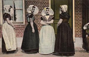 Netherlands Zeeland Women In Traditional Costume
