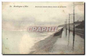 Old Postcard Boulogne s Mer Boulevard Sainte Beuve hour of the tide