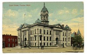Court House Pontiac Michigan 1914 postcard