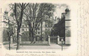 Postcard Vanderbilt Hall Yale University New Haven Conn
