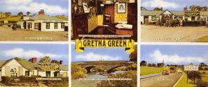Vintage Panoramic Gretna Green Multi View Postcard OS37