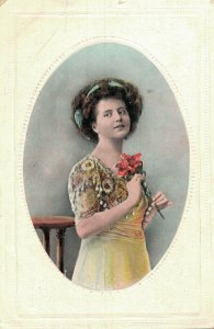 Vintage Beautiful Women with Flowers and more Postcard Lot of 8 01.18