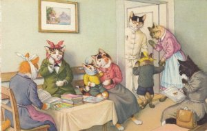 ALFRED MAINZER, 1940-50s; Dressed Cats, At the Doctor's Office