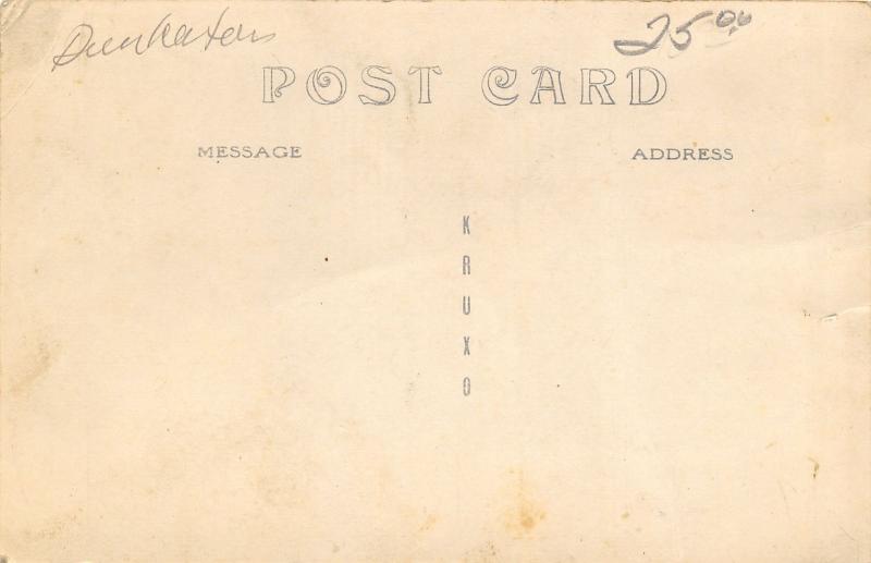 Dunkerton Iowa~Main Street~Bank~Bell Telephone~Vintage Cars Close~c1910 RPPC