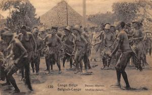 Congo Belge Postcard native Ababua dance