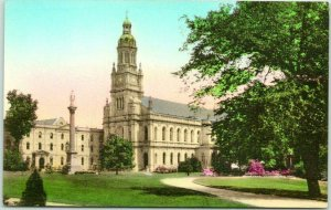 St. Mary-of-the-Woods College, Indiana Postcard Conventual Church HAND-COLORED