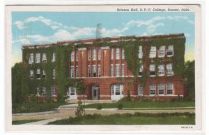 Science Hall Southeastern State Teachers College Durant Oklahoma 1941 postcard