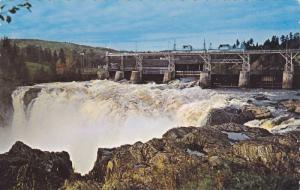 Dam and Falls, Grand Falls,  New Brunswick,  Canada,  PU_1977