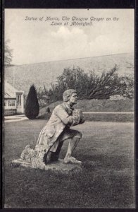 Statue of Morris,Lawn at Abbotsford,Scotland,UK